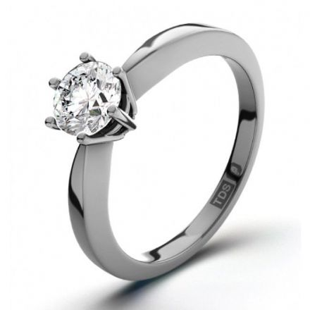 Platinum 0.40ct Six Claw Solitaire H SI Diamond Engagement Ring , P6ER0240